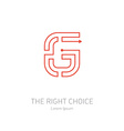 logo design template letter g concept idea vector image