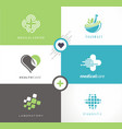 medical and health care logo vector image vector image