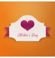 Mothers Day paper Banner with Heart and Ribbon vector image