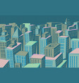 night modern city panorama vector image