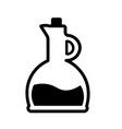 oil bottle icon vector image vector image