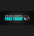online courses concept with business doodle vector image vector image