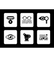 optician icons set vector image