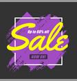 original promotion banner paint brush sales vector image