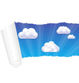 Paper And Cloud vector image vector image