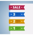 Paper color tags for sale vector image