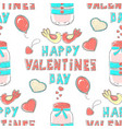 pattern lettering happy valentines day stylized vector image vector image