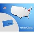 Pennsylvania vector image
