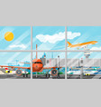 plane before takeoff vector image