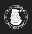 postage stamp Santa Claus on a black background vector image vector image