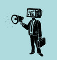 propaganda tv and loudspeaker vector image
