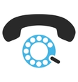 Pulse Dialing Flat Pictogram vector image