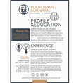 Resume template vector image vector image