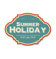 retro summer holiday label vector image vector image