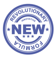 revolutionary new formula - rubber stamp vector image vector image