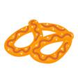 salt pretzel icon isometric style vector image vector image
