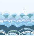 sea waves seamless pattern graphic vector image vector image