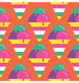 Seamless Ice cream pattern icon vector image vector image