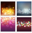 Set of abstract bokeh backgrounds vector image