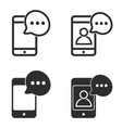 sms icon set vector image