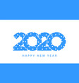 snow winter blue 2020 happy new year vector image vector image