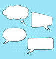 speech bubbles set on blue background pop art vector image