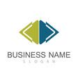 square arrow company logo vector image vector image
