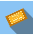 Ticket flat icon vector image