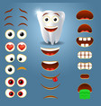 tooth emoji maker smiley creator vector image