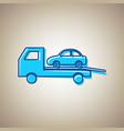 tow car evacuation sign sky blue icon vector image vector image