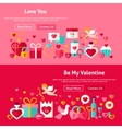 Valentine Day Website Banners vector image vector image