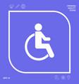 wheelchair handicap icon graphic elements for vector image