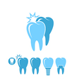 Dental hygiene Isolated teeth on white vector image