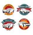 Retro car service badges vector image