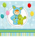baby boy dressed as rabbit vector image
