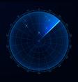 blip hud interface element radar target detection vector image