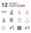 12 striped icons vector image vector image