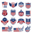 made in usa labels emblems with american symbols