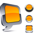 3d orange icons vector image vector image