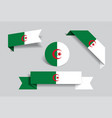 algerian flag stickers and labels vector image vector image