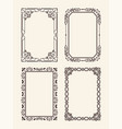antique ornate picture frames decor element vector image