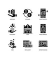 banking and finance icons vector image vector image