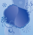 blue christmas snowflakes vector image vector image