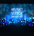 blue light bokeh background vector image