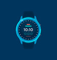 blue smart watch flat design icon vector image
