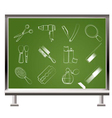 chalk hairdressing icons vector image