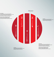 Circle template consists of five red parts on vector image vector image
