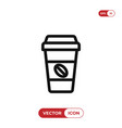 coffee paper cup icon vector image vector image