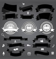 collection of ribbons labels and shopping icons vector image