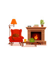 colorful cozy interior warm bright winter vector image vector image